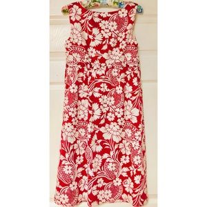 LOFT Dresses - Ann Taylor LOFT red and white sleeveless dress